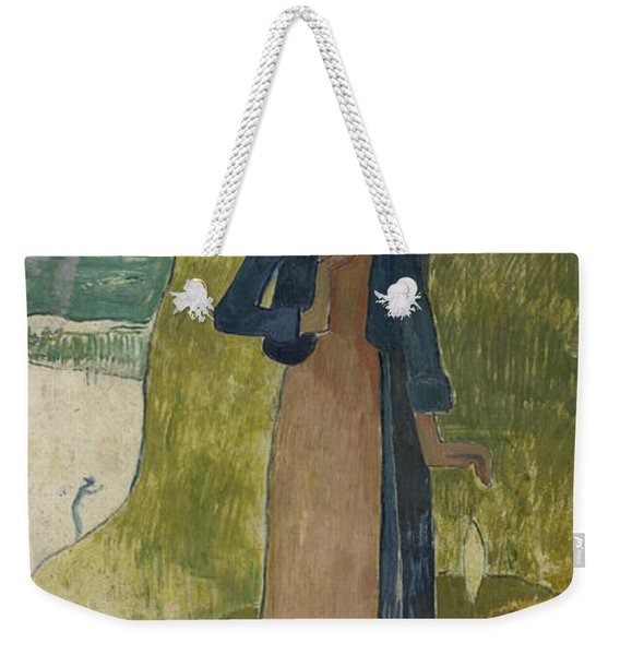 Breton Girl Spinning Weekender Tote Bag