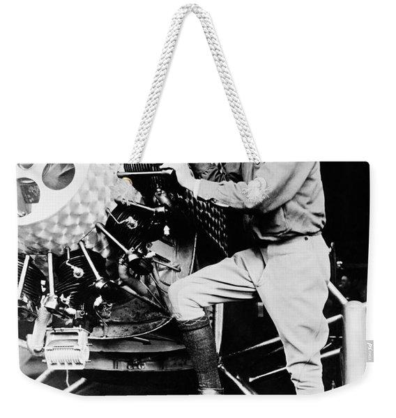 Charles Lindbergh Weekender Tote Bag