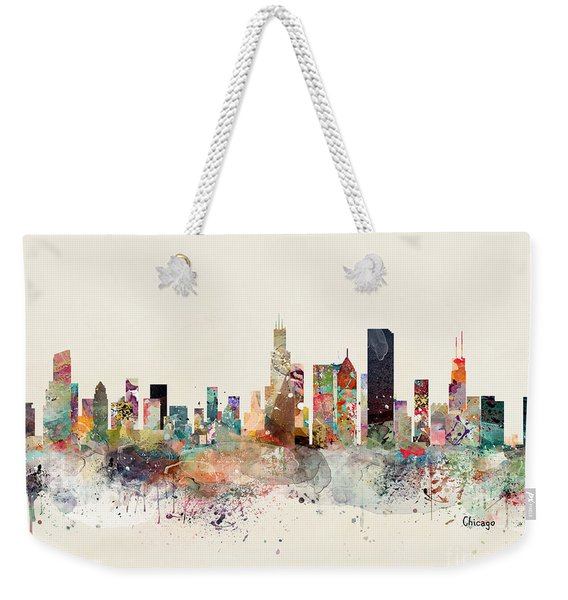 Chicago Illinois Skyline Weekender Tote Bag