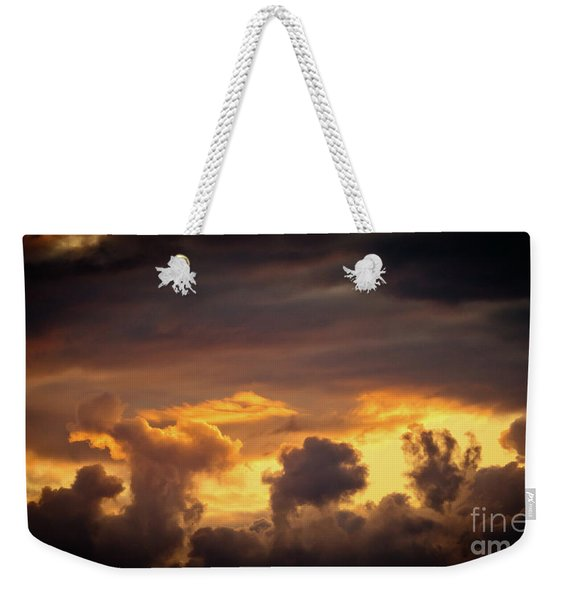 Cloudscape Of Orange Sunset Riga Latvia Artmif Weekender Tote Bag