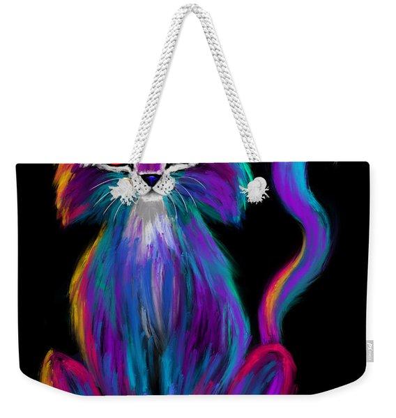 Colorful Cat Weekender Tote Bag