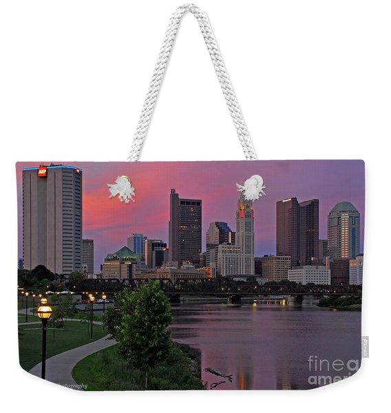 D2l37 Columbus Ohio Skyline Photo Weekender Tote Bag