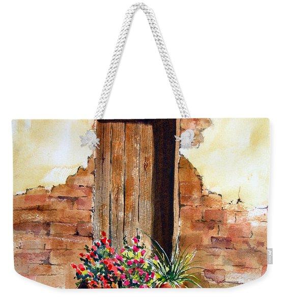 Door With Pots Weekender Tote Bag