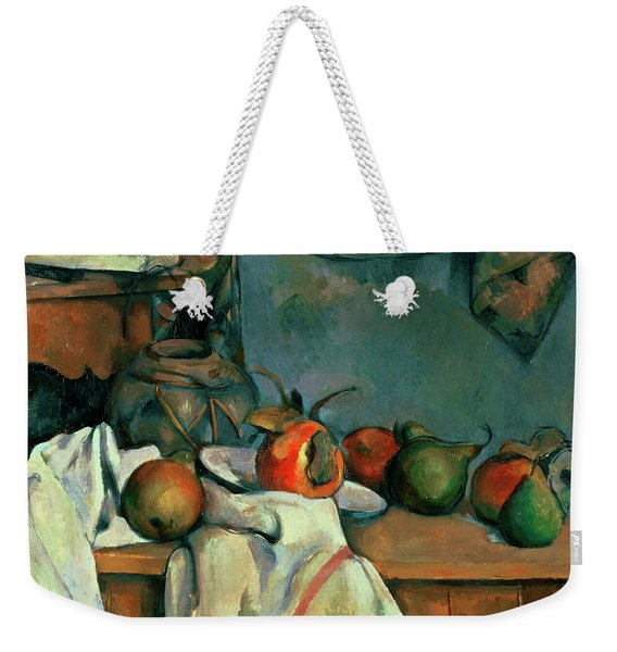 Ginger Pot With Pomegranate And Pears Weekender Tote Bag