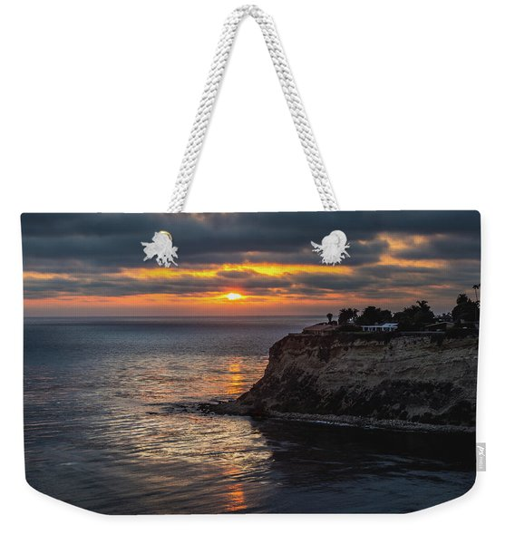 Weekender Tote Bag featuring the photograph Lunada Bay At Sunset by Andy Konieczny