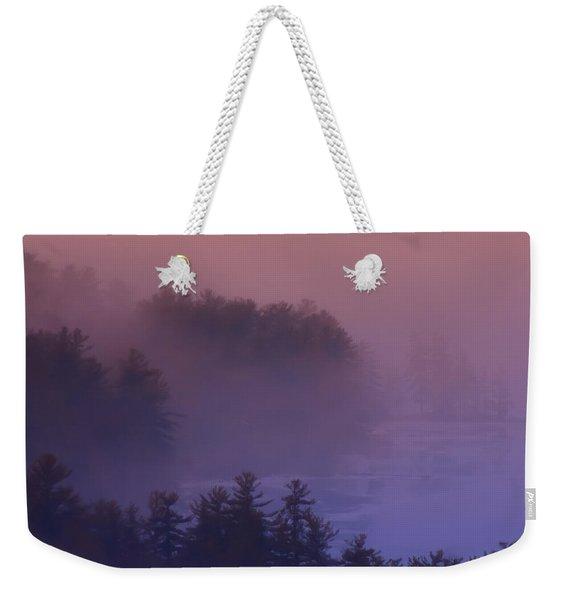 Melvin Bay Fog Weekender Tote Bag