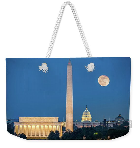 Weekender Tote Bag featuring the photograph 4 Monuments by Mihai Andritoiu