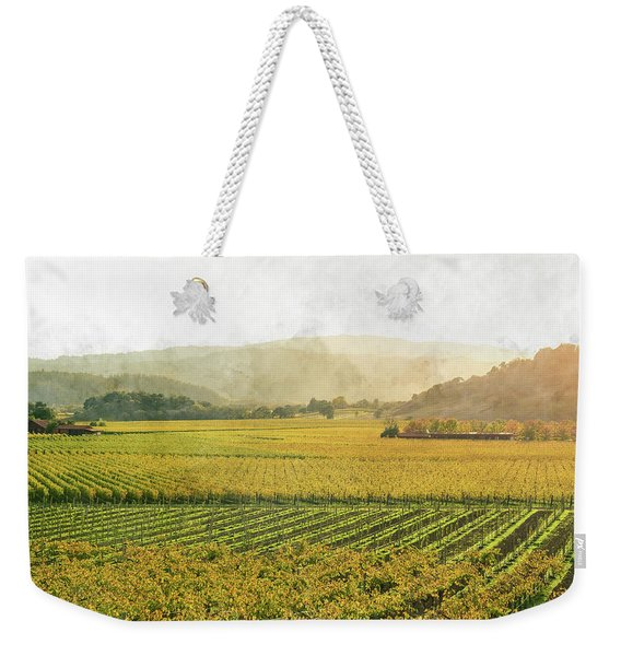 Napa Valley California In Autumn Weekender Tote Bag