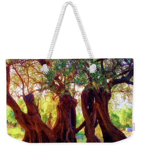 Old Olive Trees Weekender Tote Bag