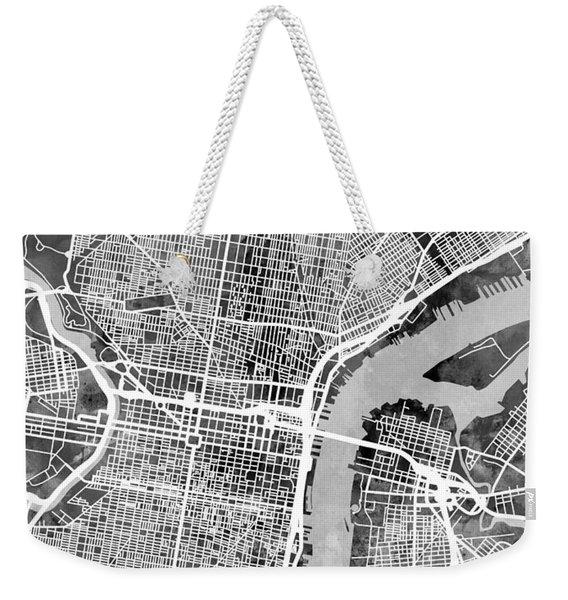 Philadelphia Pennsylvania Street Map Weekender Tote Bag