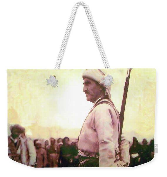 Portrait Of Melle Mutafa Barzani Weekender Tote Bag