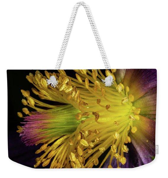 Purple And Yellow Weekender Tote Bag