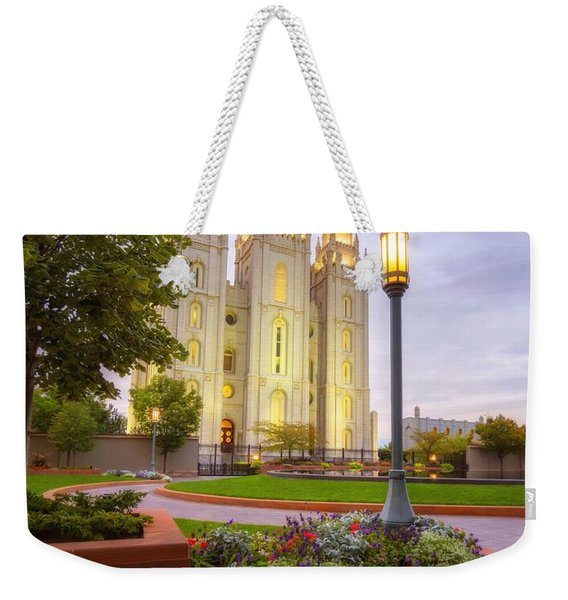 Salt Lake Temple Weekender Tote Bag