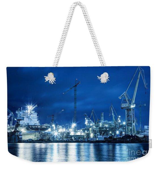 Shipyard At Work Weekender Tote Bag