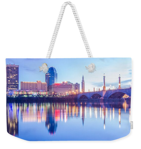 Springfield Massachusetts City Skyline Early Morning Weekender Tote Bag