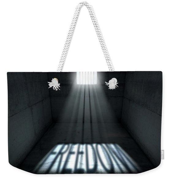 Sunshine Shining In Prison Cell Window Weekender Tote Bag