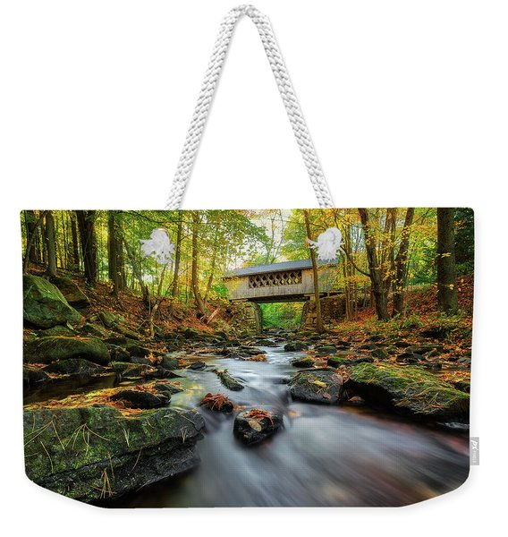 Tannery Hill Covered Bridge Weekender Tote Bag