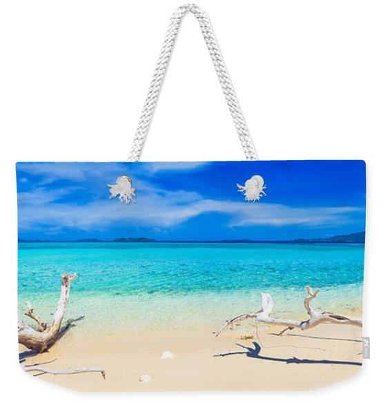 Tropical Beach Malcapuya Weekender Tote Bag
