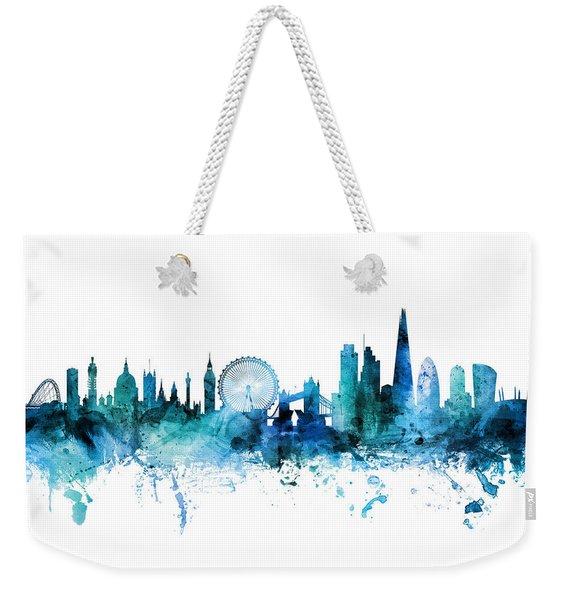 London England Skyline Weekender Tote Bag