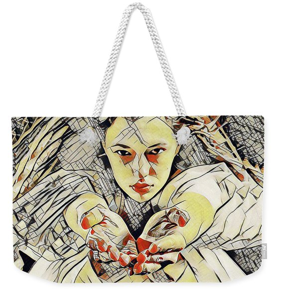 4448s-ab The Succubus Comes For You Erotica In The Style Of Kandinsky Weekender Tote Bag