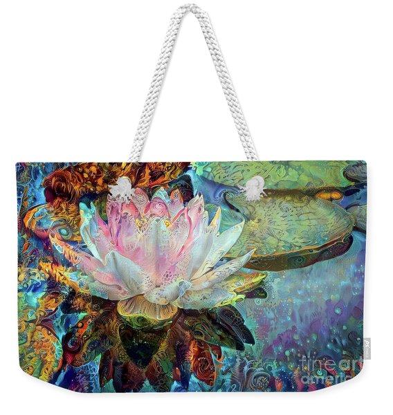 Jeweled Water Lilies Weekender Tote Bag