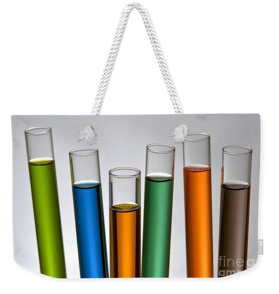 Laboratory Test Tubes In Science Research Lab Weekender Tote Bag