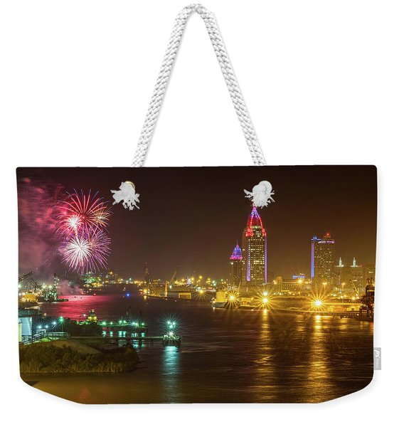 4th Of July In Mobile Weekender Tote Bag