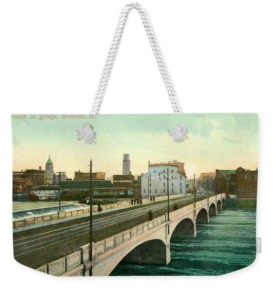 4th Street Bridge Waterloo Iowa Weekender Tote Bag
