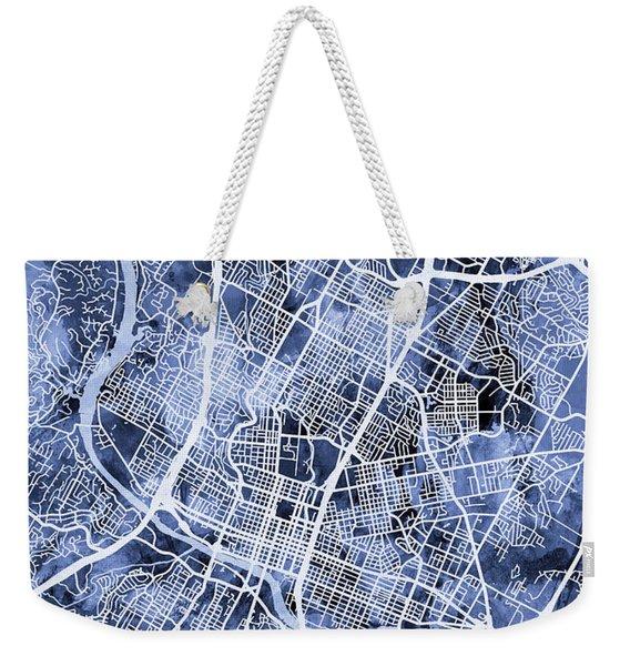 Austin Texas City Map Weekender Tote Bag