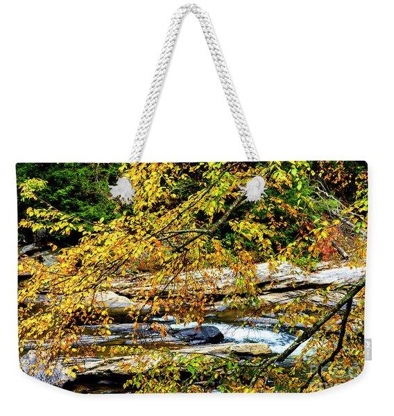 Autumn Middle Fork River Weekender Tote Bag
