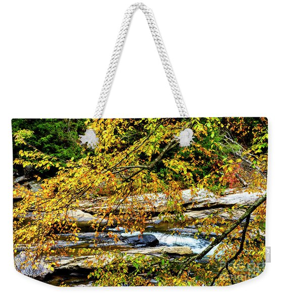 Autumn Middle Fork River Weekender Tote Bag