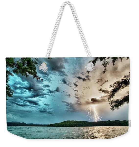 Beautiful Landscape Scenes At Lake Jocassee South Carolina Weekender Tote Bag