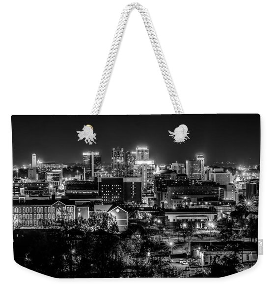 Birmingham Alabama Evening Skyline Weekender Tote Bag