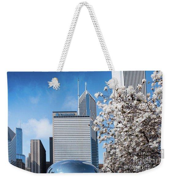Chicago Bean Millenium Park Weekender Tote Bag