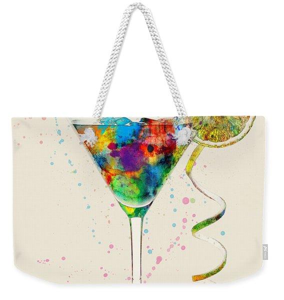 Cocktail Drinks Glass Watercolor Weekender Tote Bag