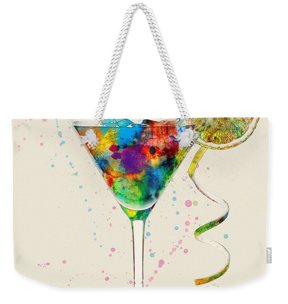 Cocktail Drinks Glass Watercolor Weekender Tote Bag