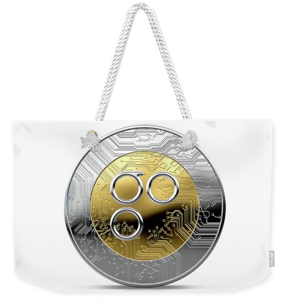 Cryptocurrency Physical Coin Weekender Tote Bag
