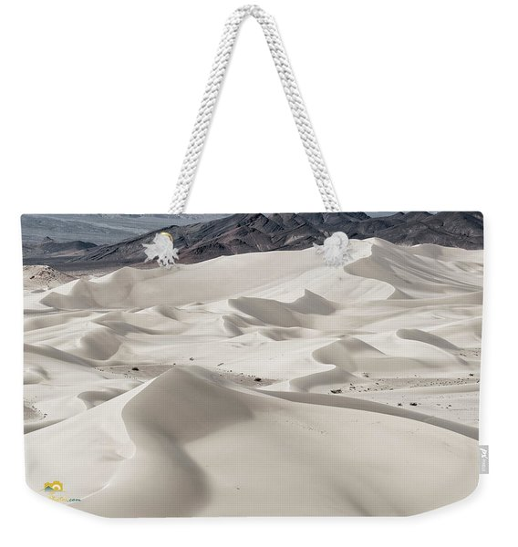 Weekender Tote Bag featuring the photograph Dumont Dunes 5 by Jim Thompson