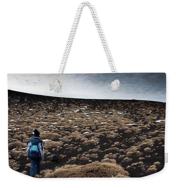 Etna, Red Mount Crater Weekender Tote Bag