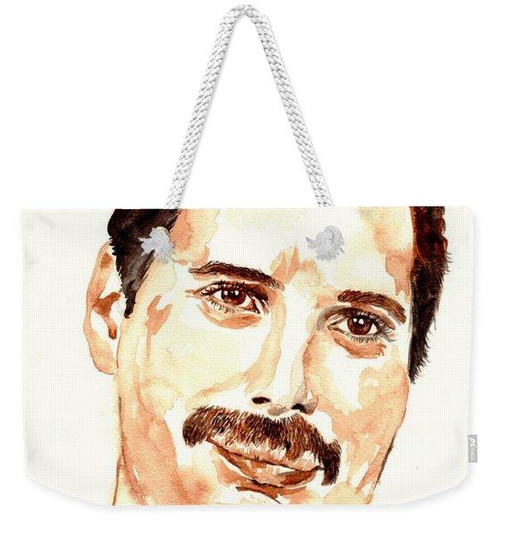 Freddie Mercury Portrait Weekender Tote Bag