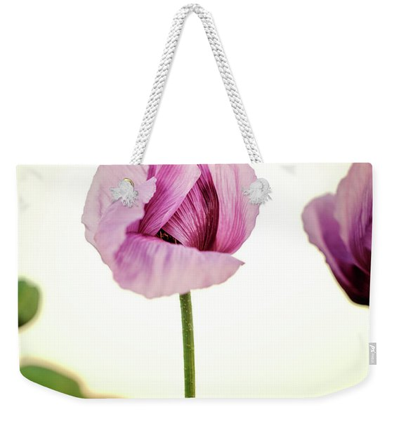 Lilac Poppy Flowers Weekender Tote Bag