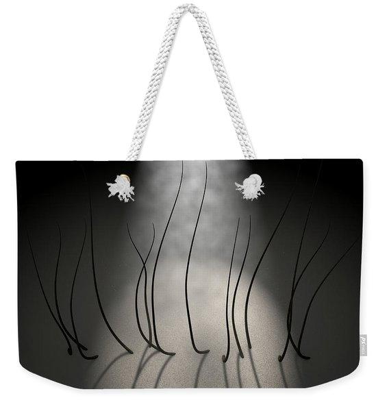 Microscopic Hair Fibers Weekender Tote Bag