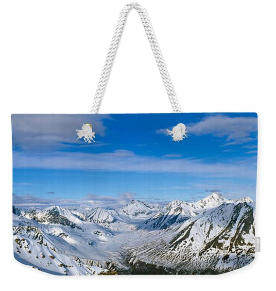 Mountains And Glaciers In Wrangell-st Weekender Tote Bag