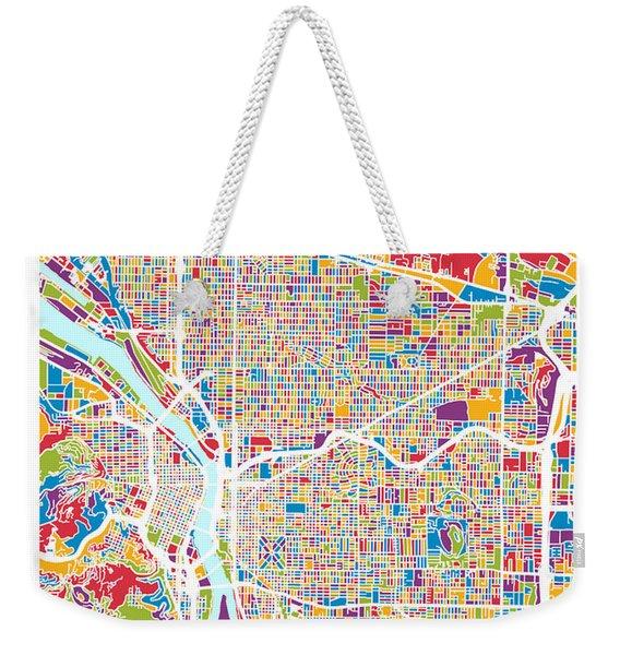 Portland Oregon City Map Weekender Tote Bag