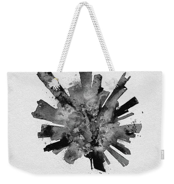 Black Skyround Art Of Chicago, United States Weekender Tote Bag