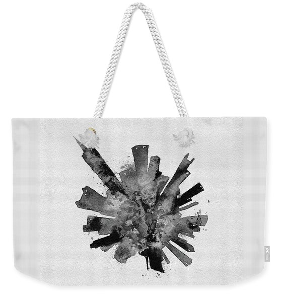 Black Skyround Art Of Chicago, United States Weekender Tote Bag