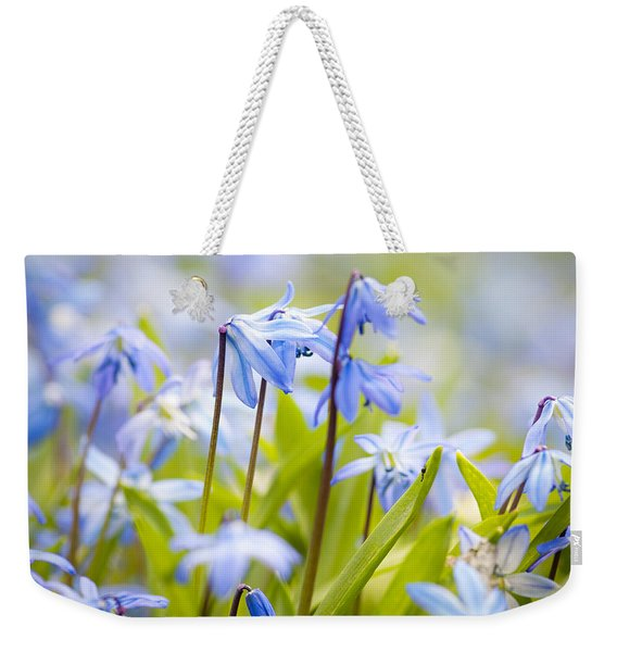 Spring Blue Flowers Weekender Tote Bag