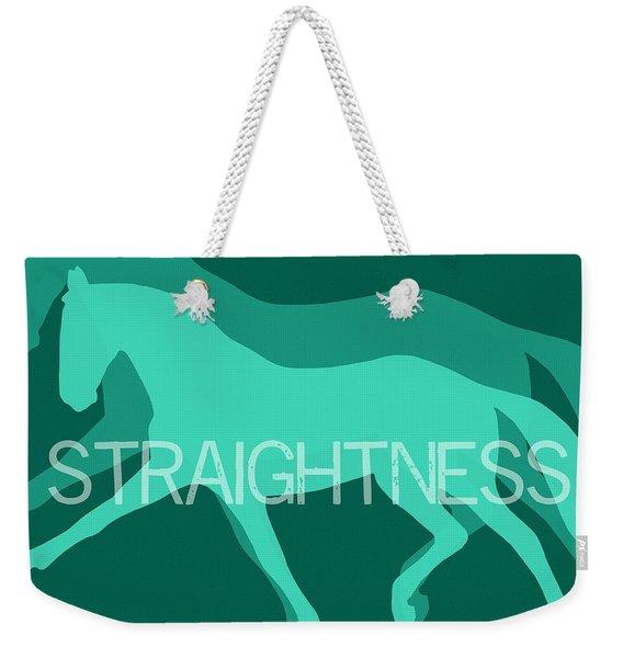 Straightness Negative Weekender Tote Bag