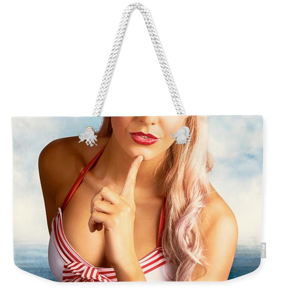 50s And 60s Pinup Style Photo Illustration Weekender Tote Bag