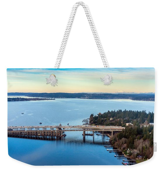 520 Bridge And Mount Baker Weekender Tote Bag